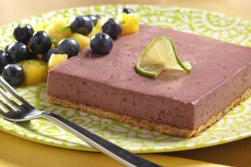 Frozen Blueberry Lime Squares