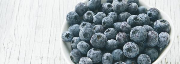 Frozen BC blueberries