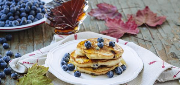 Celebrate Canada Day with Blueberry Pancakes