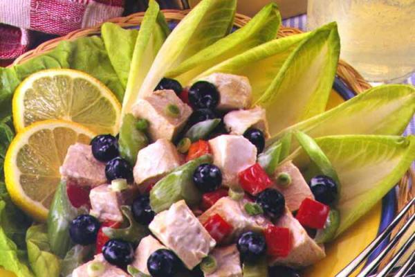 Lemon, Blueberry and Chicken Salad