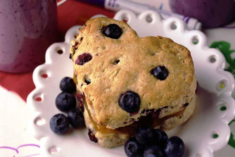 Apricot Filled Blueberry Biscuits