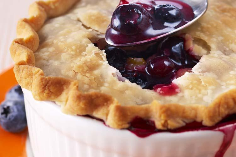 Blueberry Apricot Pot Pies