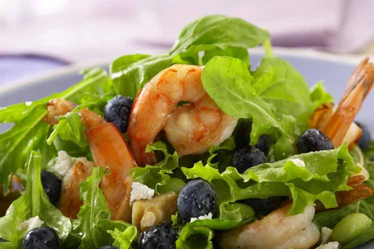Blueberry Shrimp Salad With Lemon Vinaigrette