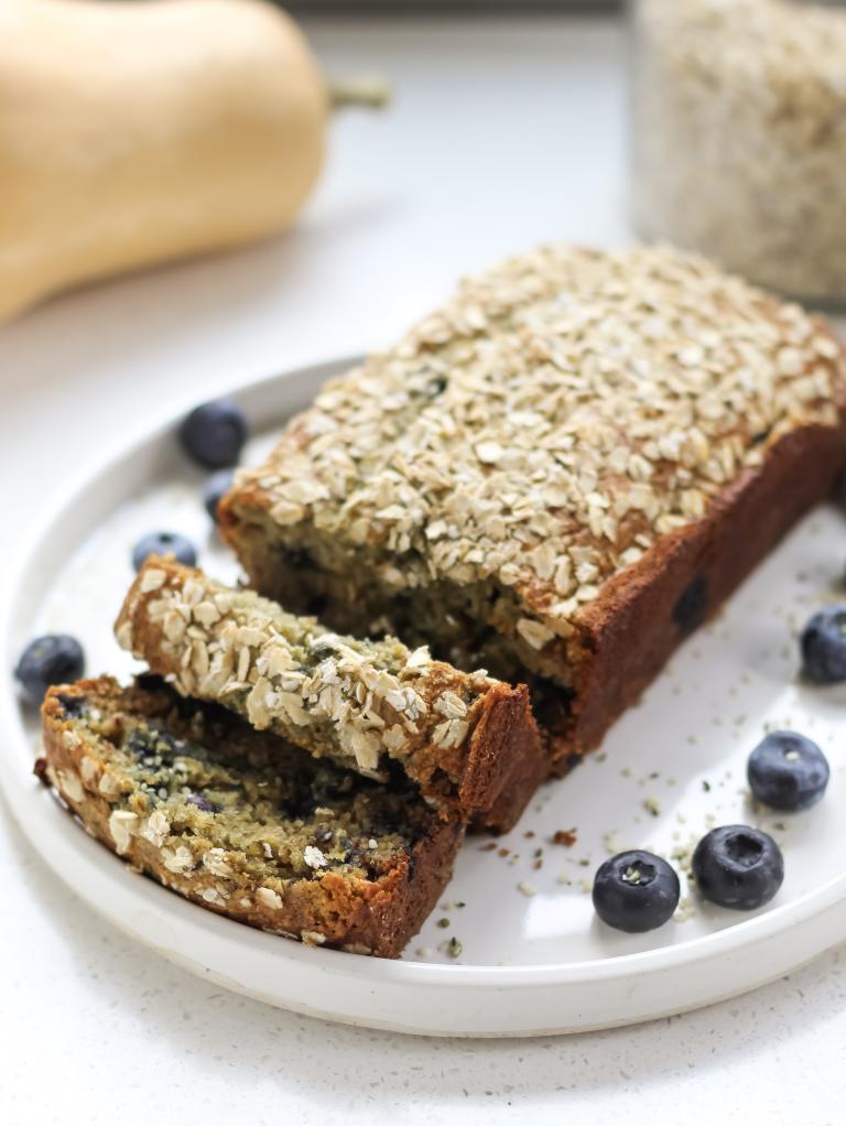 Blueberry Butternut Squash Banana Bread