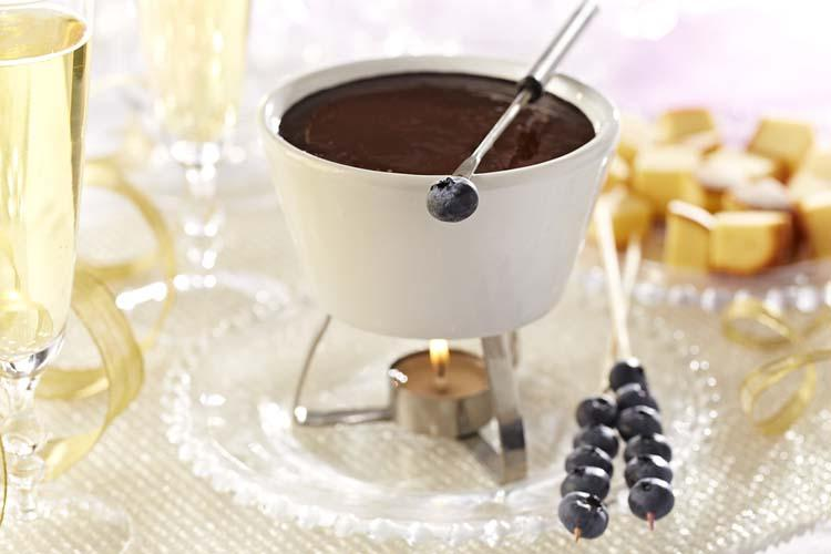 Blueberry Chocolate Fondue