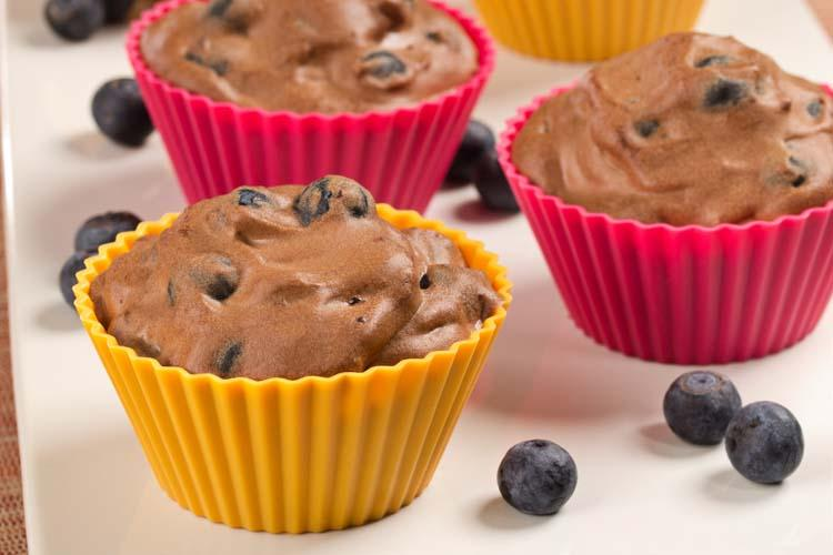 Blueberry Chocolate Mousse Cups