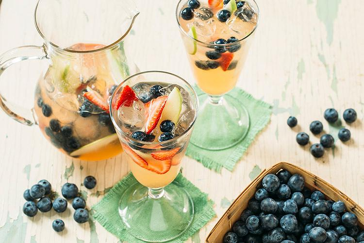 Blueberry White Wine Sangria
