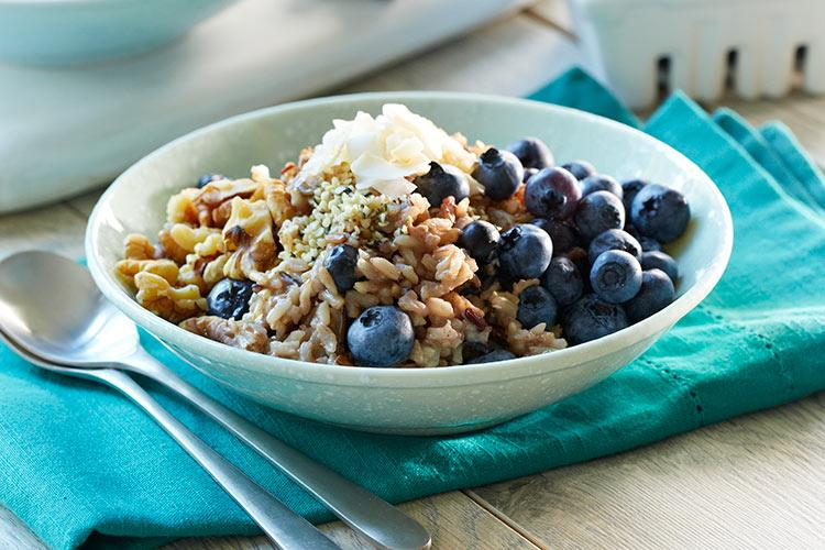 Blueberry Breakfast Rice Bowl