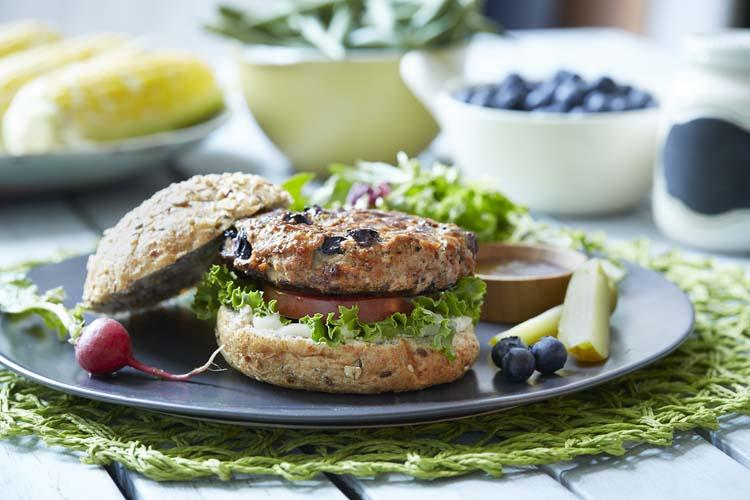 Blueberry Turkey Burgers